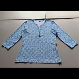 J. Mclaughlin  LS Catalina Cloth Top Medium